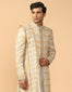 Sherwani Paired With Kurta Churidar, Stole & Kamarbandh