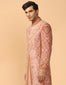 Velvet Applique Sherwani With Kurta & Churidar