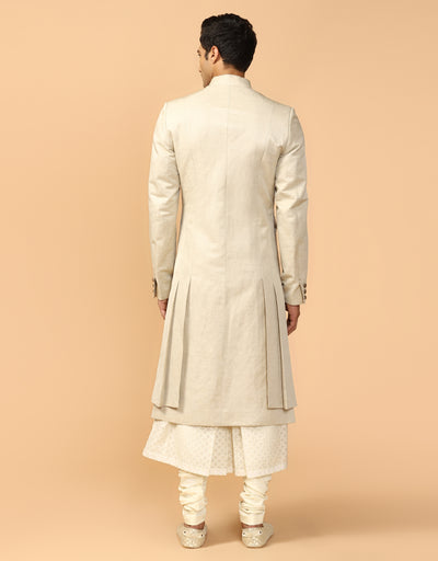 Drape Sherwani With Kurta & Churidar
