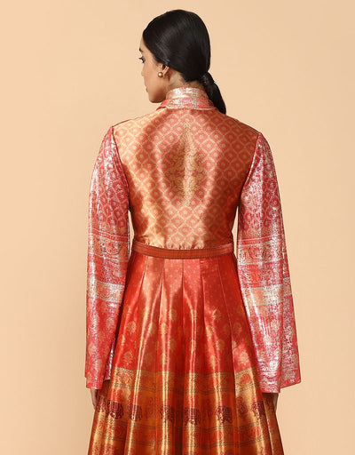 Draped Anarkali With Churidar