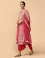 Embroidered Kurta With Dhoti Pants & Dupatta