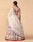 Multi-Coloured Thread Embroidered Lehenga With Blouse & Dupatta