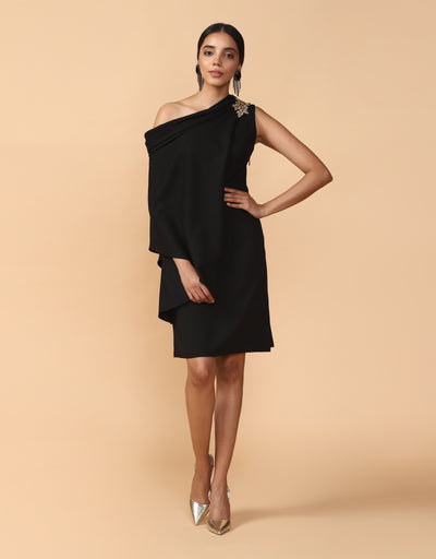 One-Shouldered Draped Tunic
