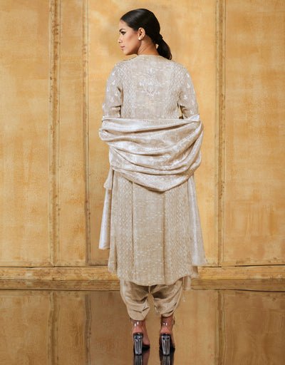 Digital Printed Chikankari Long Kurta
