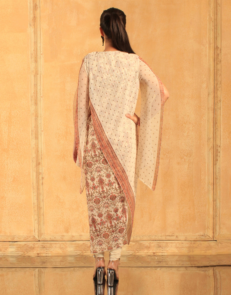 Egyptian Floral Print Long Kurta