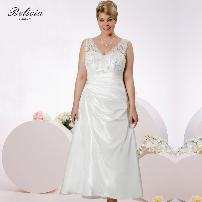 belicia couture appliques sexy v-neck vintage wedding dress lace