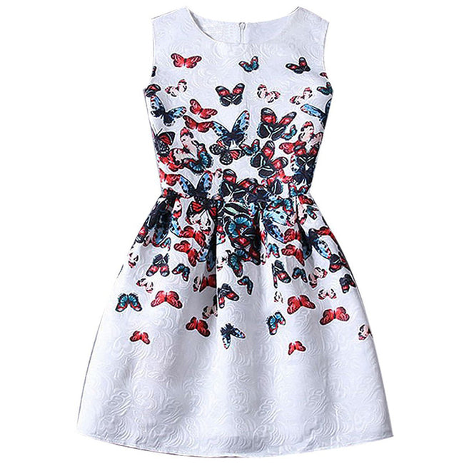 fancy baby girl printed dress brand children dresses girl clothes school dresses teenage kids girl party wear child 6-12 years