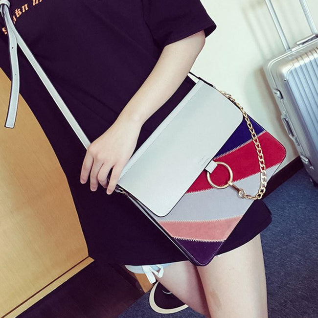2016 Fashion Women Bag small Square Package Women Summer Rainbow Frosted Shoulder Messenger Bags para mujer bolsa feminina #35