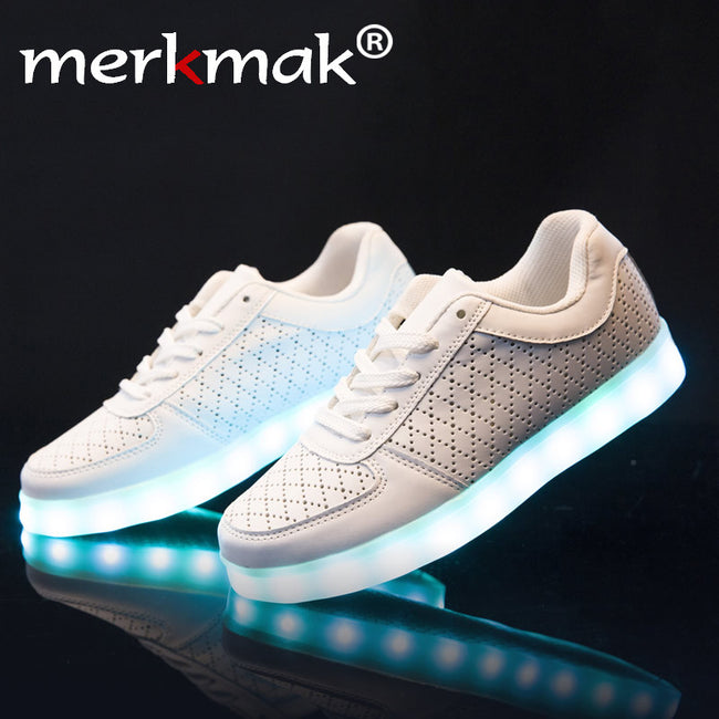 Super Amazing Cool High quality Led Shoes Men Fashion Light Up Casual Shoes Adults 8 Colors Glowing Outdoor led light shoe