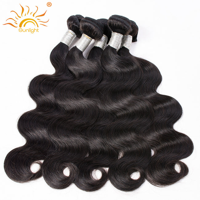 Sunlight Hair Malaysian Body Wave Hair Weaving 1 pc Remy Hair Extensions 100% Human Hair Bundles 1b Natural Color 10-28 inch