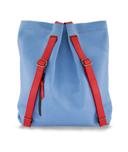 Convertible Backpack Light Blue and Red