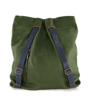 Convertible Backpack Olive with Blue