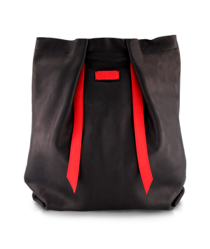 Open image in slideshow, Convertible Backpack Black Matte and Red