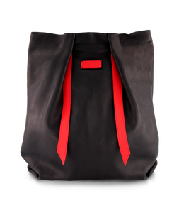 Convertible Backpack Black Matte and Red