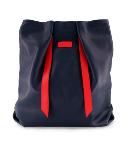 Convertible Backpack Navy Blue with Red