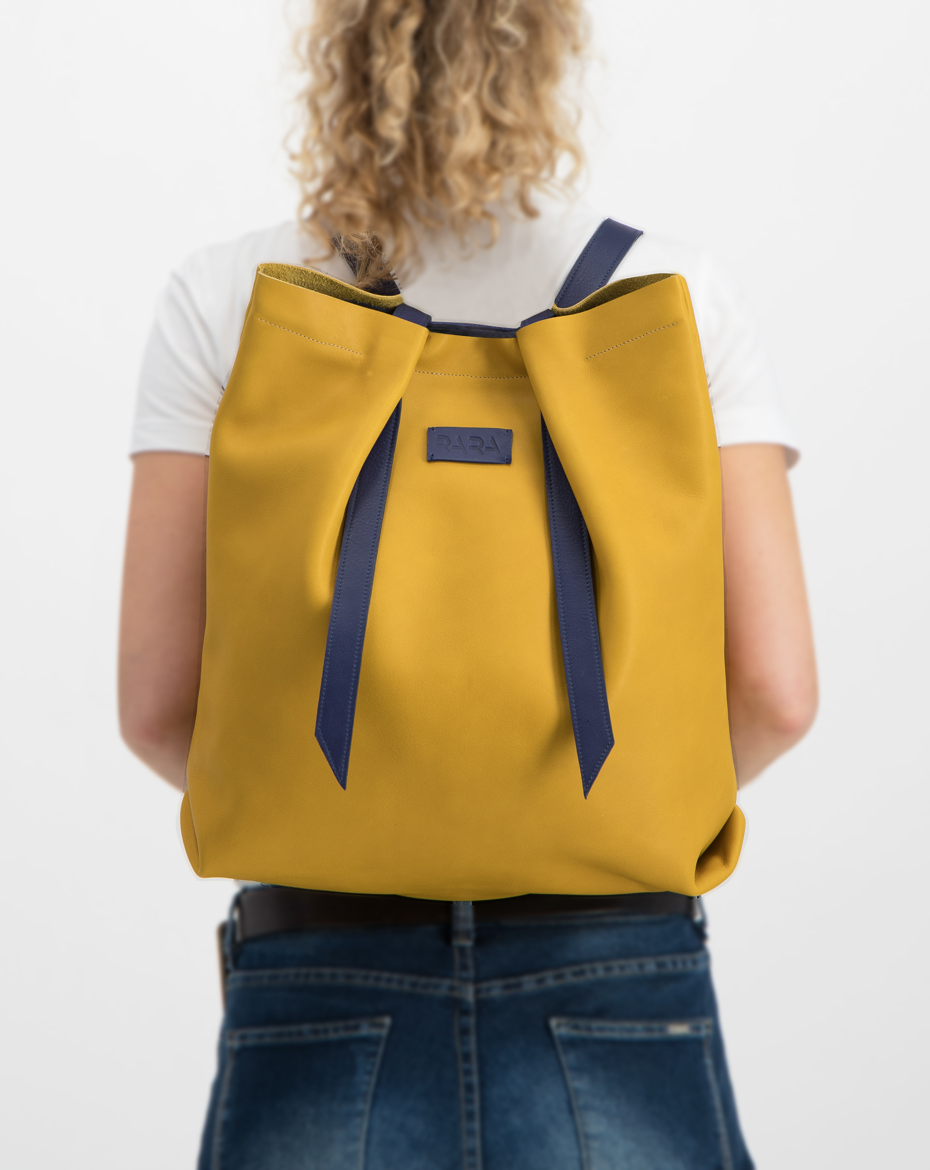 Convertible Backpack Ochre with Indigo
