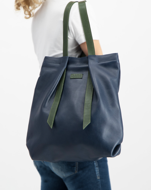 Convertible Backpack Navy Blue and Green Olive