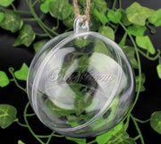 Clear Plastic Fillable Baubles – Pack of 6