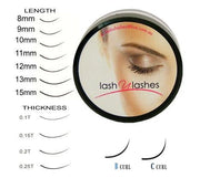 Lash U Lashes Synthetic Lash - B Curl 0.15mm Thick - 15mm