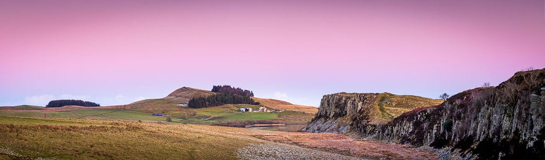 Evening light over Steel Rigg Ref-PC2412