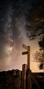 Hadrians Wall sign Milky Way Ref-SC2433