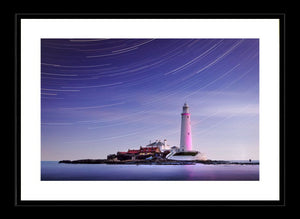 Saint Mary's Lighthouse star trails 2 Ref-SC2438