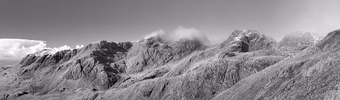 Scafell pike from Bowfell Ref-PBW2263