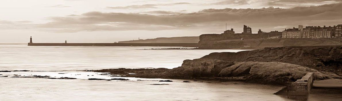 Cullercoats and Tynemouth dawn Ref-PS200