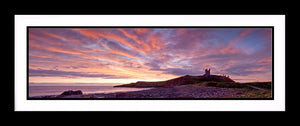 Dunstanburgh Castle red sky 1 Ref-PC1064