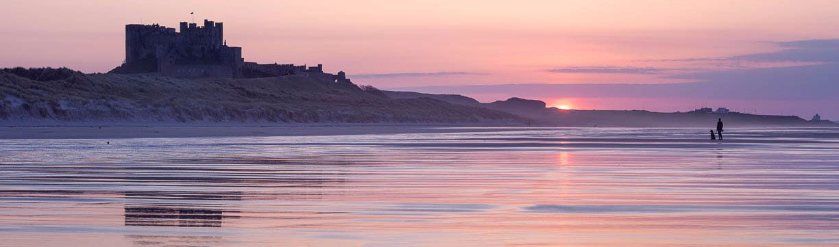 Bamburgh Castle sunset 4 Ref-PC2292