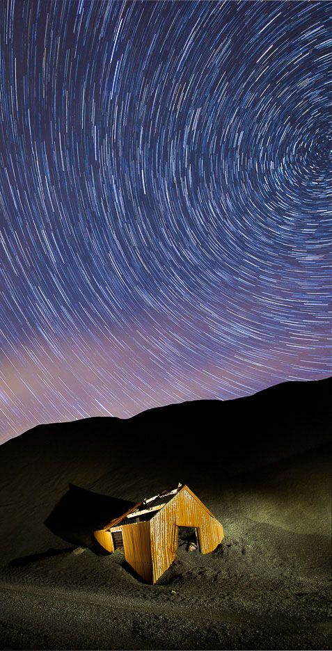 Star Trails over miners hut, Honister Ref-SC2426