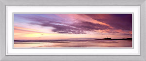 Dunstanburgh Castle scarlet dawn Ref-PC258