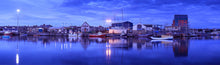 Amble Harbour dawn Northumberland panoramic photograph