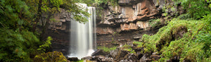 Panoramic photograph of Ashgill Force Northumberland.