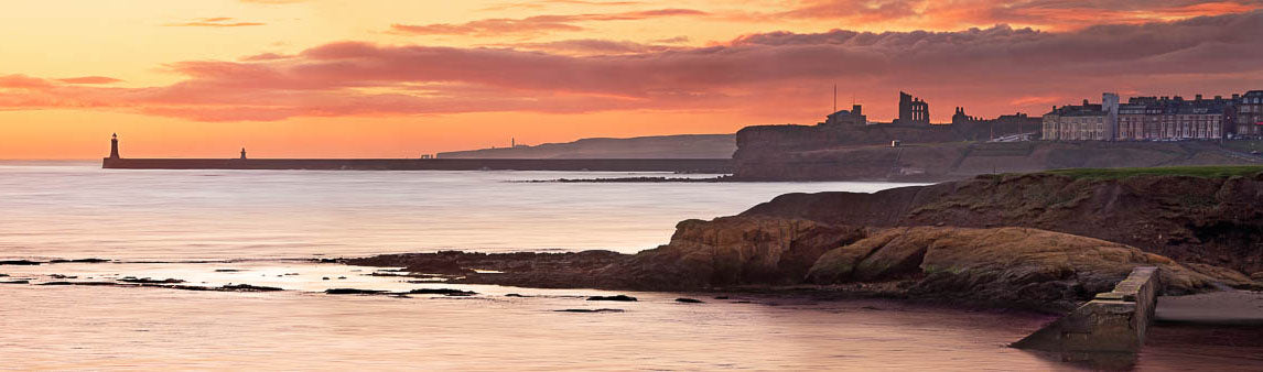 Cullercaots and Tynemouth panoramic photograph