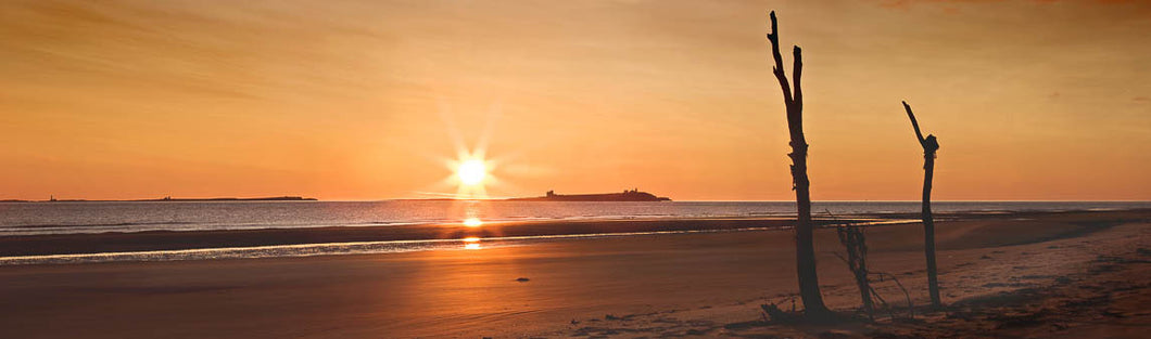 Farne Islands sunrise Northumberland panoramic photograph