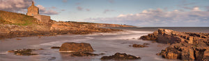 Howick coast sea Northumberland panoramic photograph