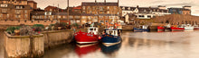 Seahouses Harbour panoramic photograph