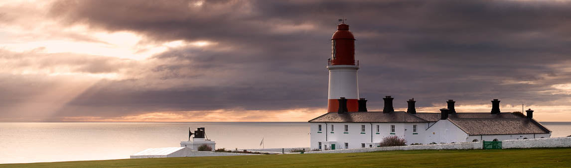 Souter Lighthouse South Shields panoramic photograph
