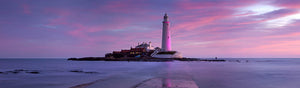 Saint Mary's Lighthouse Whitley Bay at dawn panoramic photograph
