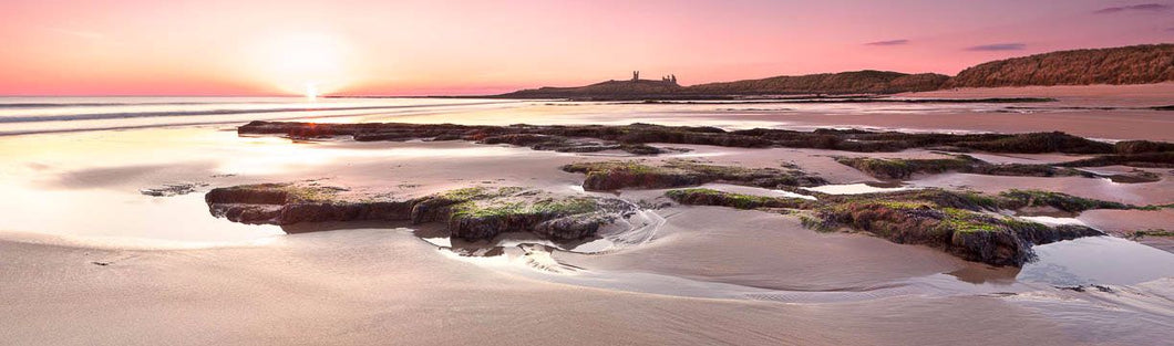 Dunstanburgh Castle from Embleton Bay Ref-PC2124