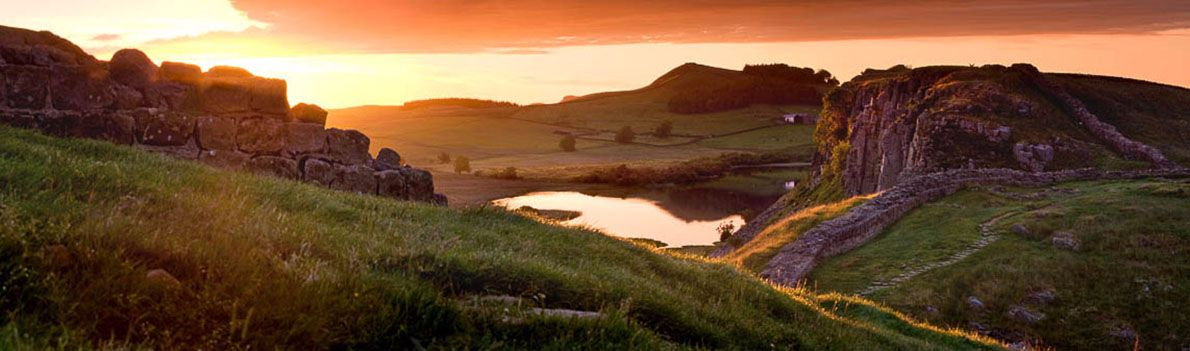 Hadrians Wall Steel Rigg sunrise Ref-PC232