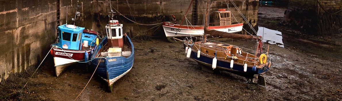 Burnmouth Harbour Boats  Ref-PC559