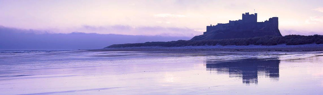 Bamburgh Castle blue dawn Ref-PC185