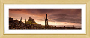 Lindisfarne Castle storm clouds Ref-PC2611
