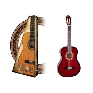 Valencia 1/2 Size Nylon String Guitar - Red Sunburst
