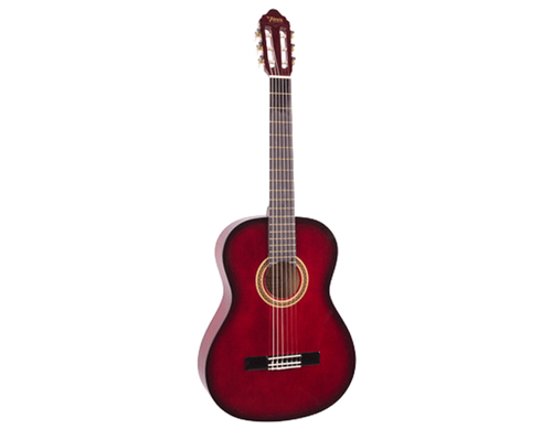 Valencia 3/4 Size Nylon String Guitar - Red Sunburst