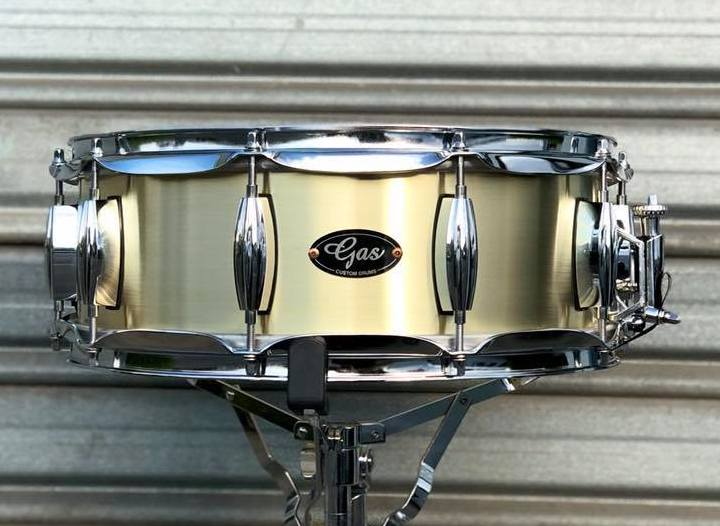 Gas Custom Brass Snare Drum
