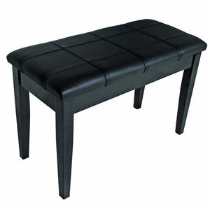 Piano Bench with Storage - Black Vinyl