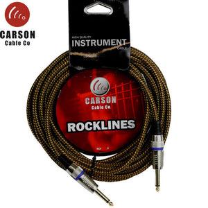 Carson Rocklines 20' Braided Guitar Cable